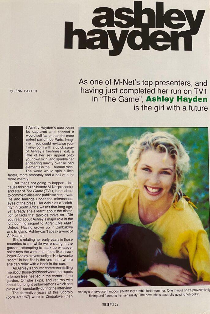 Ashley Hayden Interview Talk Page 1
