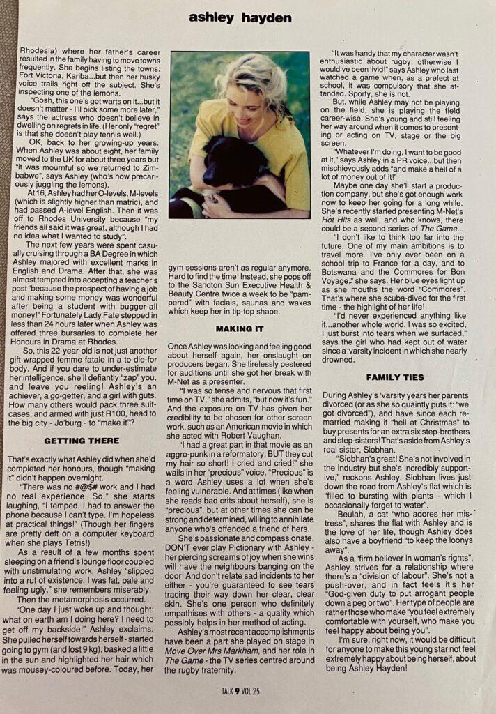 Ashley Hayden Interview Talk Page 2