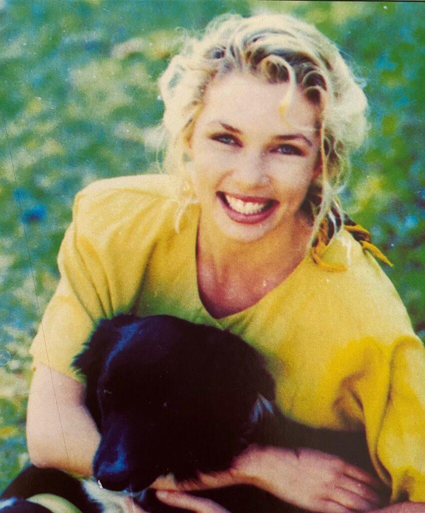 Ashley Hayden with Dog
