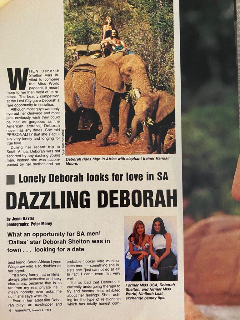 Deborah Shelton Interview Page 1