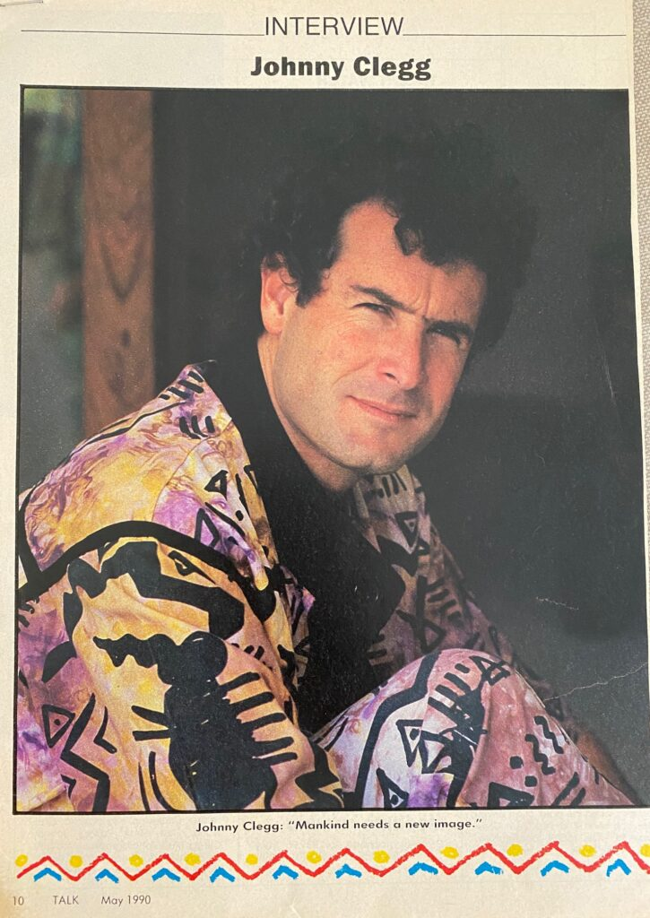 Johnny Clegg Interview Page 1