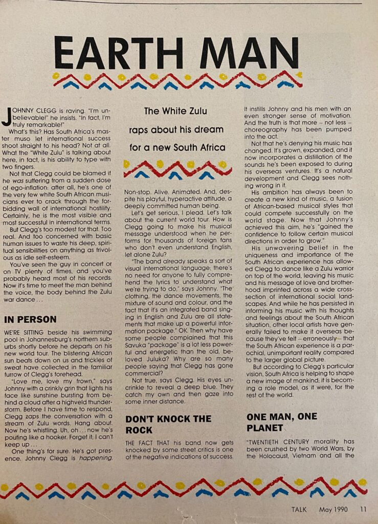 Johnny Clegg Interview Page 2