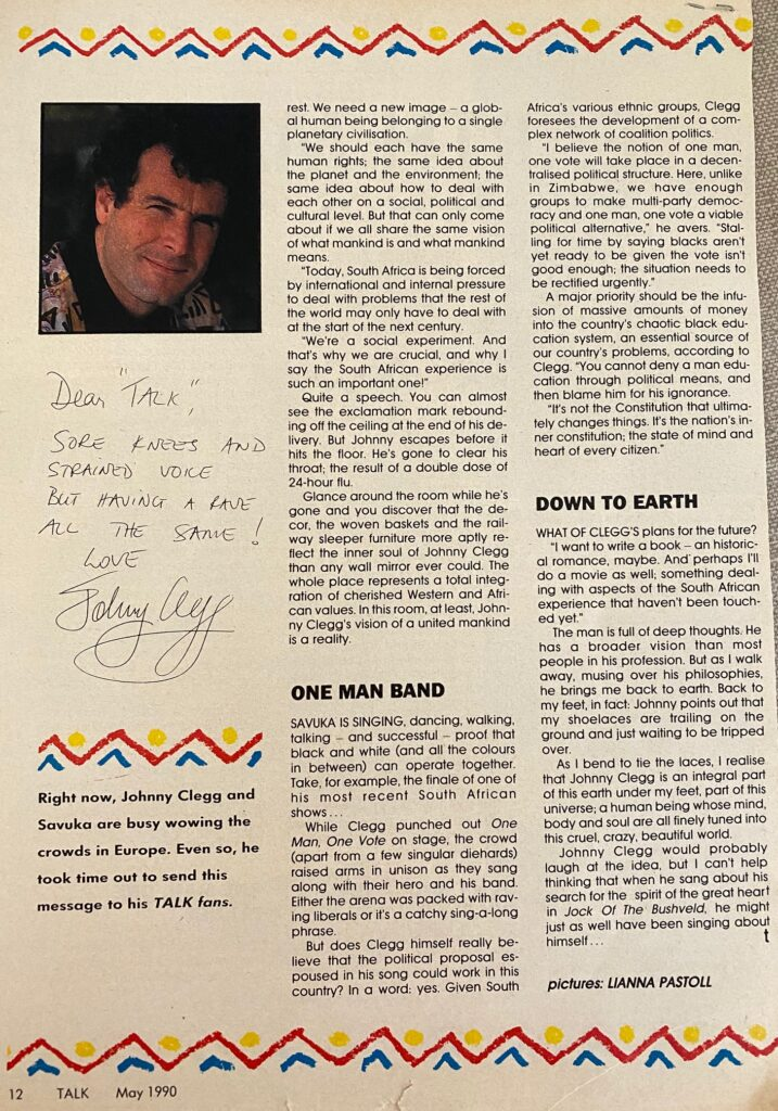 Johnny Clegg Interview Page 3