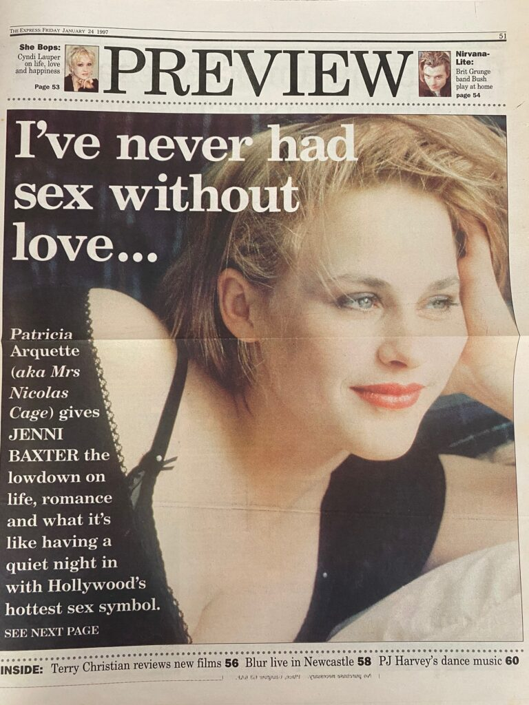 Patricia Arquette The Express Interview