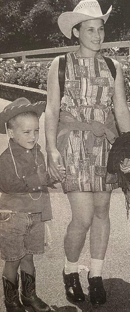 Patricia Arquette and son Enzo