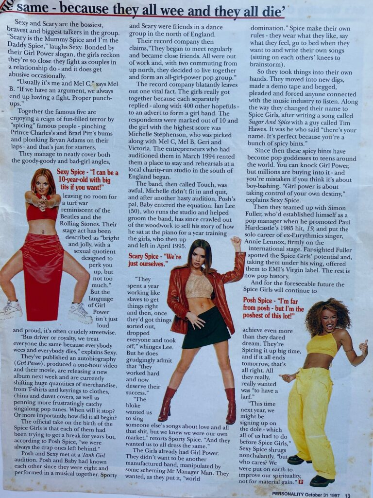 Spice Girls Blitz SA Interview Page 3
